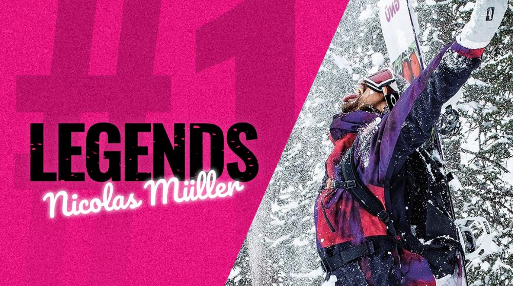 LEGENDS #1: Nicolas Müller je kouzelník na svahu i mimo něj