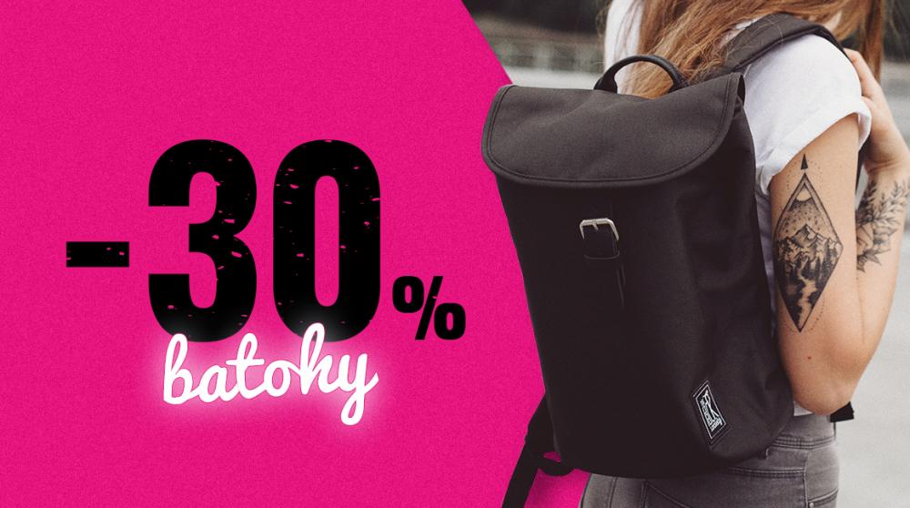 30% sleva na batohy aka Ukaž všem svý stylový záda!