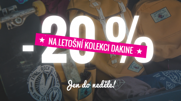20% slevy na letošní kolekci DAKINE platí jen do neděle!