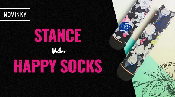 Ponožkový války o tvý chodidla: Stance vs. Happy Socks