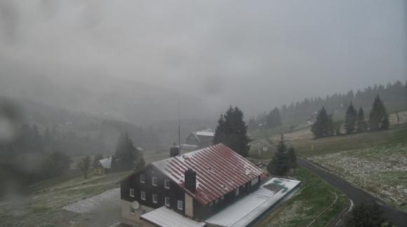 První sníh na českých horách je tady!