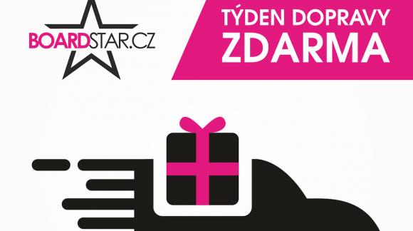 Týden dopravy zdarma na Boardstaru od 25.12. do 31.12.