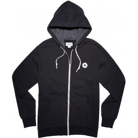 c54d7b75590 MIKINA CONVERSE Core Full Zip Hoodie - černá