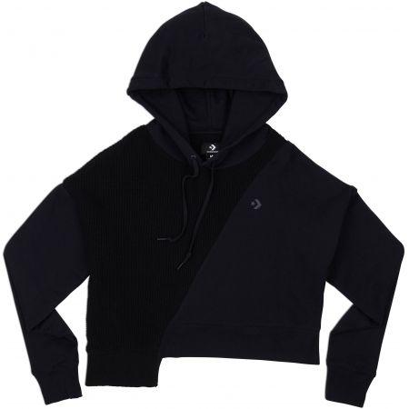 MIKINA CONVERSE Sweater Knit Cropped WMS - černá