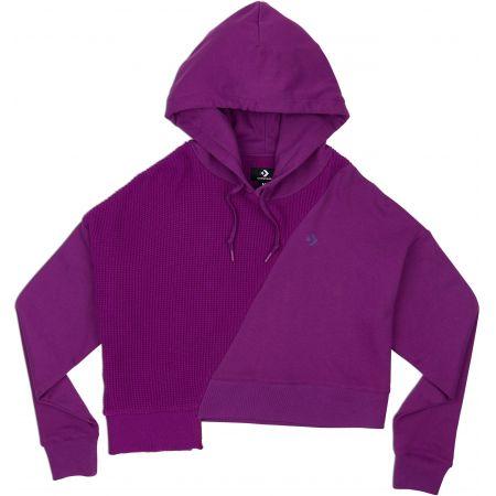 MIKINA CONVERSE Sweater Knit Cropped WMS - fialová