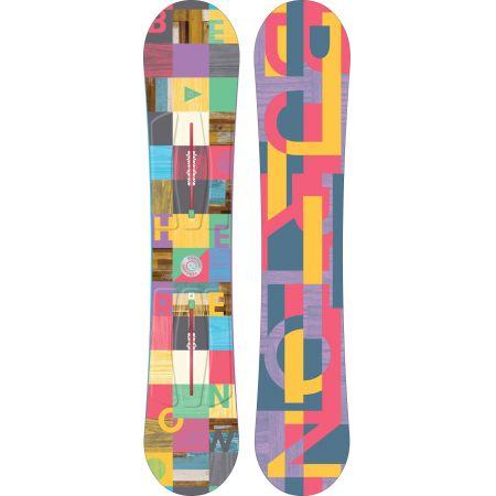 SNOWBOARD BURTON FEATHER WMS 2016 - žlutá