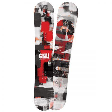 SNOWBOARD GNU CRBN CRDT 162 BTX red - červená