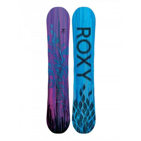 SNOWBOARD ROXY XOXO leaves 152 ban - purpurová