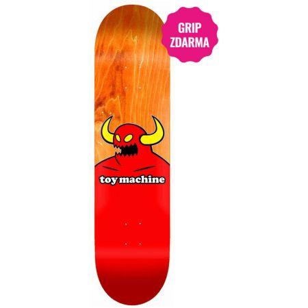 SK8 DESKA TOY MACHINE Monster - oranžová