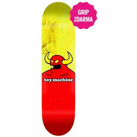 SK8 DESKA TOY MACHINE Monster - žlutá