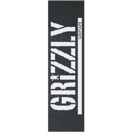 SK8 GRIP GRIZZLY OVERSIZED STAMP - černá