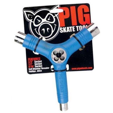 SK8 NÁŘADÍ PIG WHEELS Tri-Socket Threade - modrá