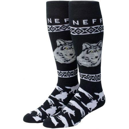 PONOŽKY NEFF WOLF SNOW - černá