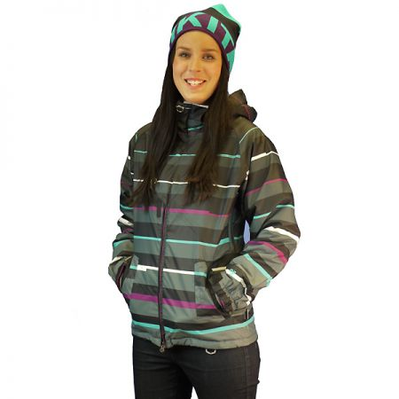 NUGGET MANON WMS SNOWBOARD BUNDA - antracitová