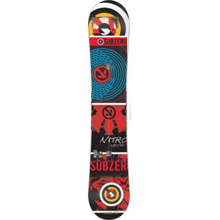NITRO 12 SUB ZERO SNOWBOARD - červená