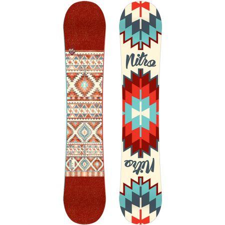 NITRO 15 SPELL WMS SNOWBOARD - karmínová
