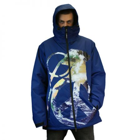 GRENADE PEACE BOMB SNOWBOARD BUNDA - modrá