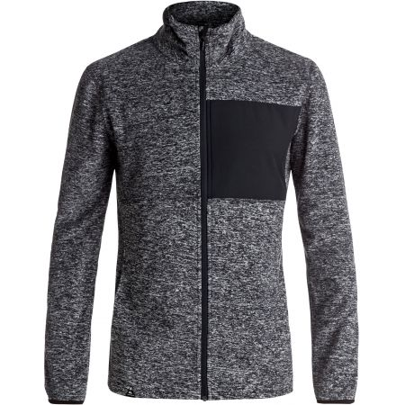 MIKINA QUIKSILVER BUTTER FLEECE - antracitová