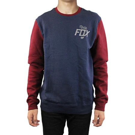 MIKINA FOX KNOCKOUT CREW FLEECE - modrá