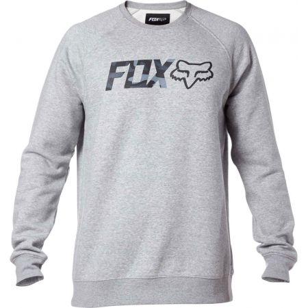 MIKINA FOX LEGACY CREW FLEECE - šedá