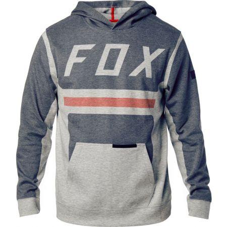 MIKINA FOX MOTH PULLOVER FLEECE - šedá