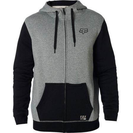 MIKINA FOX Win Mob Zip Fleece - šedá