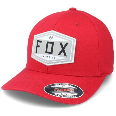 KŠILTOVKA FOX Emblem Flexfit - červená