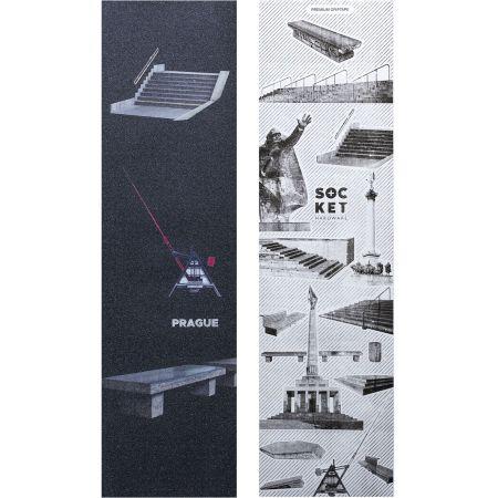 SK8 GRIP SOCKET PRAGUE - černá