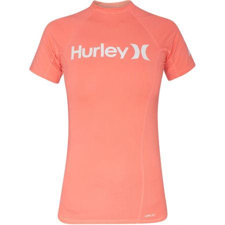 TRIKO HURLEY ONE&ONLY S/S RASHGUARD WMS - oranžová