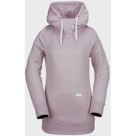MIKINA VOLCOM Yerba Pullover Fleece WMS - růžová