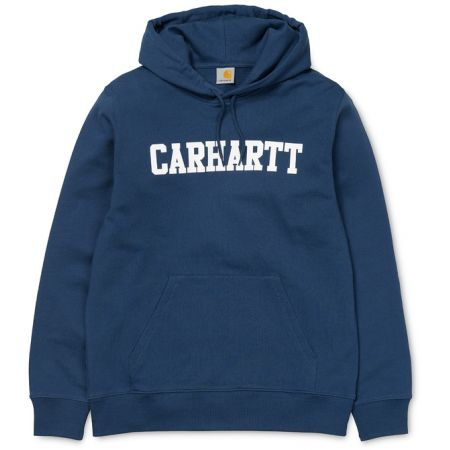 MIKINA CARHARTT HOODED COLLEGE - modrá