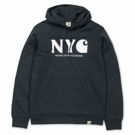 MIKINA CARHARTT HOODED NEW YORK CITY - antracitová