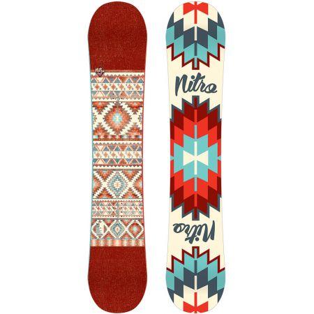 SNOWBOARD NITRO 15 SPELL - karmínová