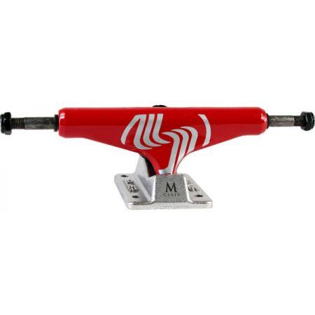 SK8 TRUCKY SILVER M-CLASS HOLLOW - červená