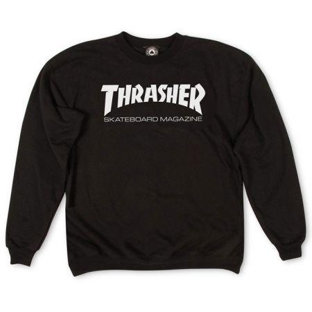 MIKINA THRASHER SKATE MAG CREW - černá