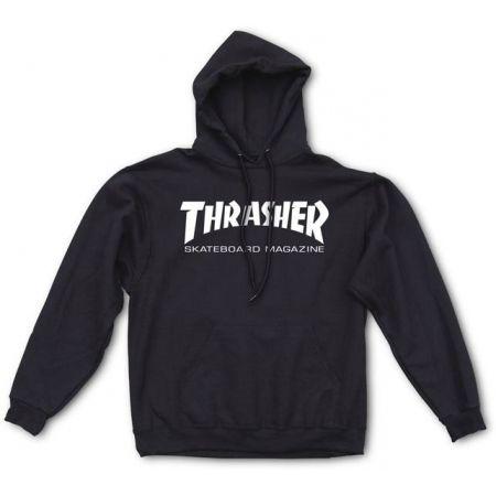 MIKINA THRASHER SKATE MAG HOOD - černá  6a32478cb8