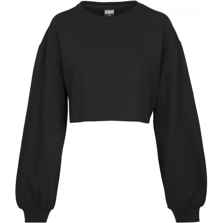 MIKINA URBAN CLASSICS Oversized Short Cr - černá