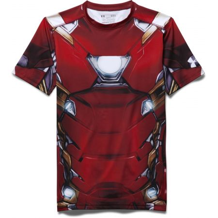 fd2905348f9 TRIKO UNDER ARMOUR IRON MAN SUIT SS - červená