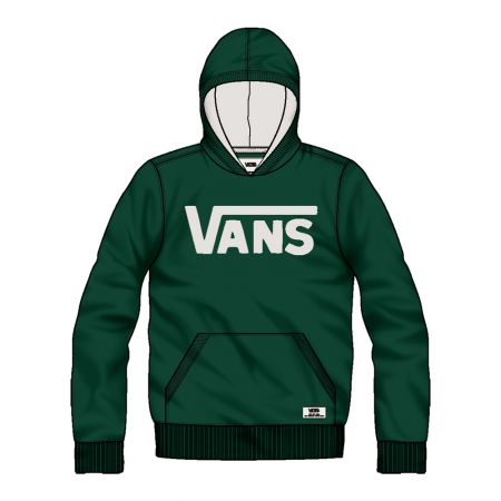 VANS CLASSIC PULLOVER BOYS MIKINA - tmavě zelená