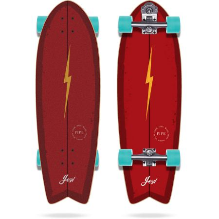 SURFSKATE YOW Pipe Power Surfing - červená