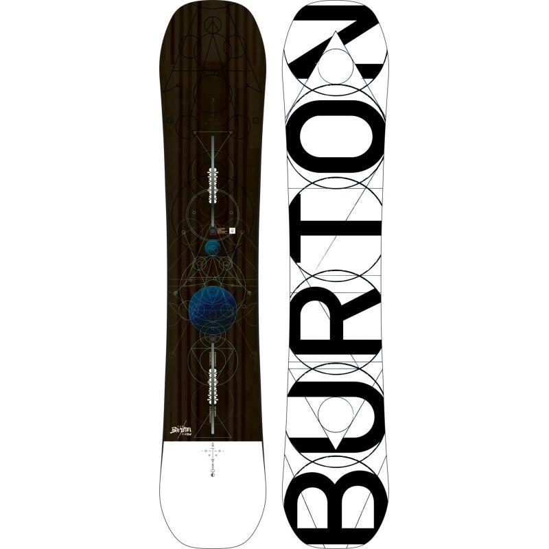SNOWBOARD BURTON CUSTOM - šedohnědá - 158W