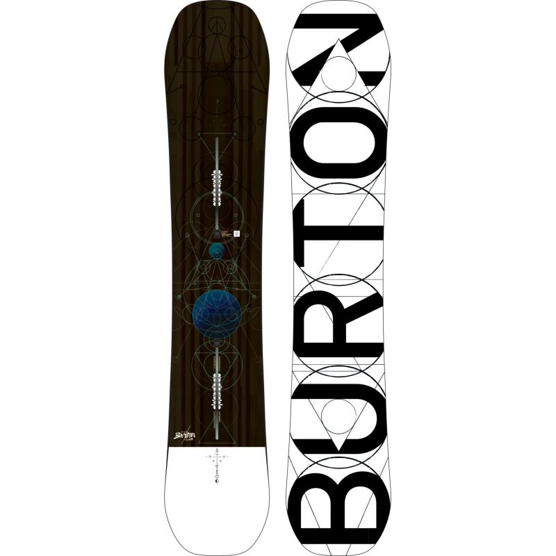 SNOWBOARD BURTON CUSTOM - šedohnědá - 158