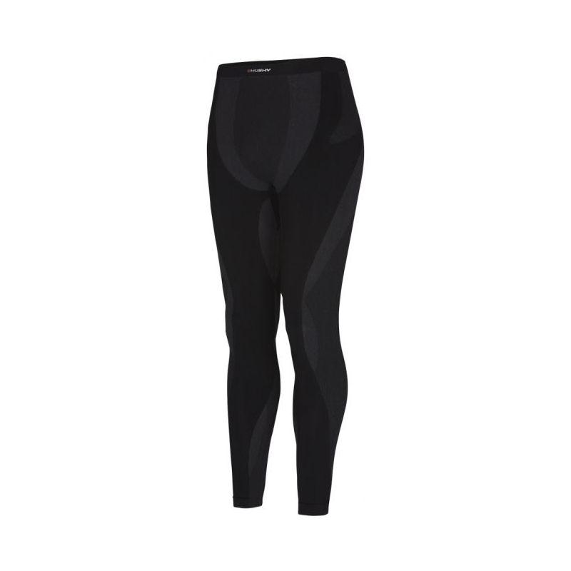 Husky unisex bezešvé kalhoty - celoroční   Seamless Pants S-M, antracit - černá (husky) - L_XL