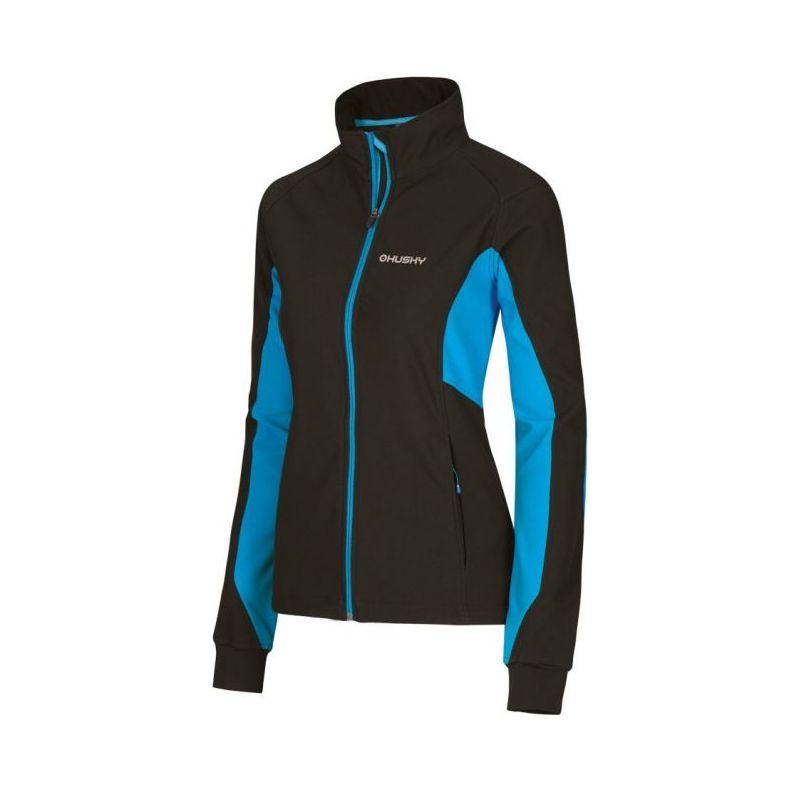 Husky dámská softshell bunda Alema modrá, XL - černá (husky) - S