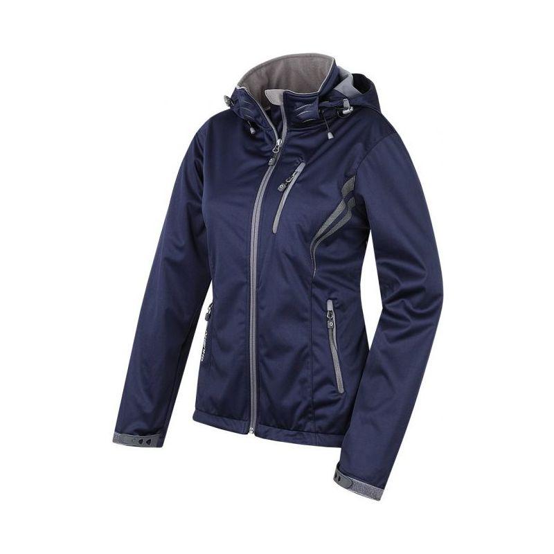 Husky dámská softshell bunda Anette černá, L - námořnická modř (husky) - S