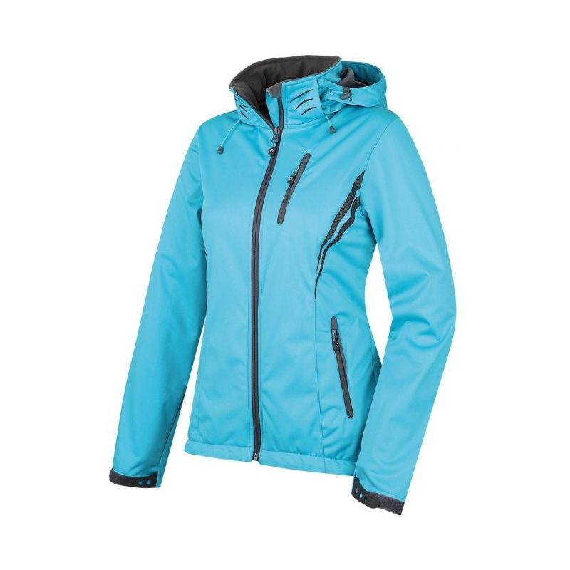 Husky dámská softshell bunda Anette modrá, L - tyrkysová (husky) - L