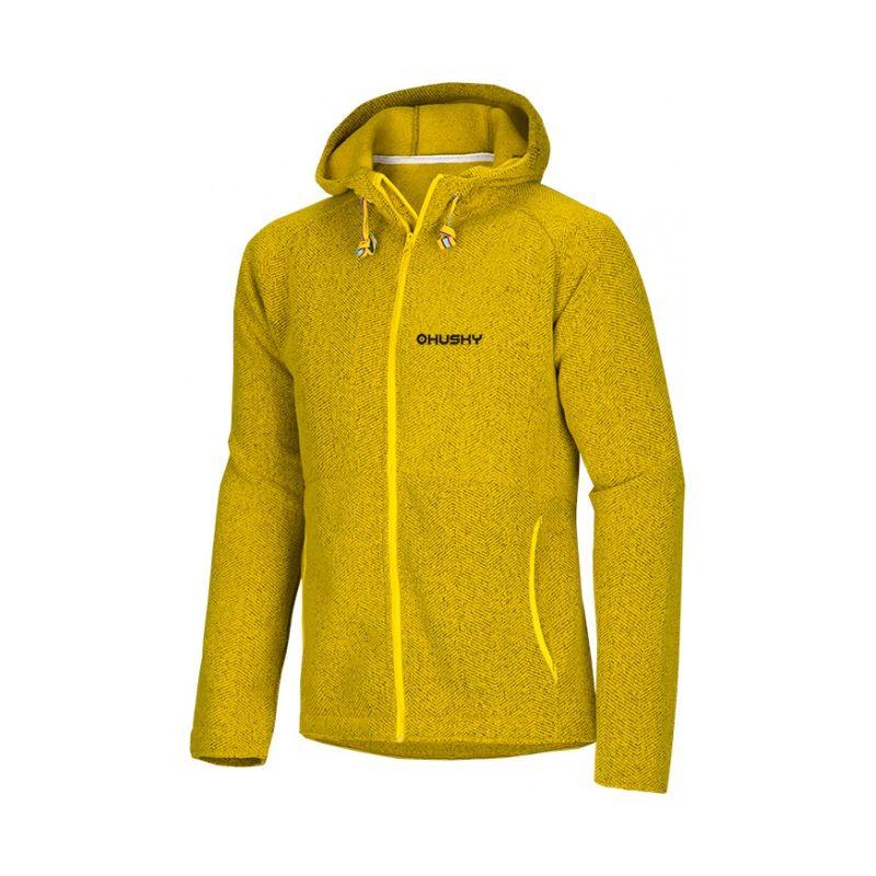 Husky pánská mikina Apol M žlutá, XXL - hořčicová (husky) - XL
