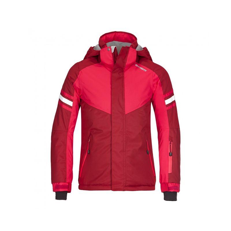Husky dětská lyžařská bunda Lory růžová, 122 - rubínová (husky) - 122