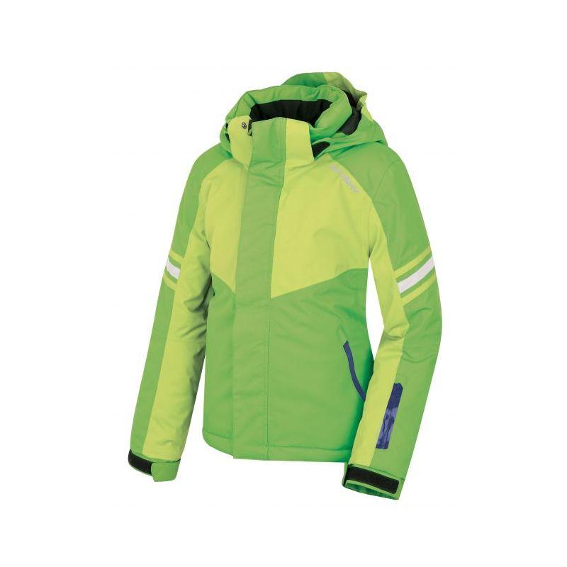 Husky dětská lyžařská bunda Lory zelená, 122 - elektrická zelená (husky) - 122