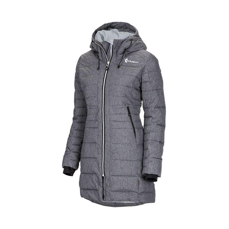 Husky dámský zimní kabátek Normy šedá, M - šedá (husky) - M